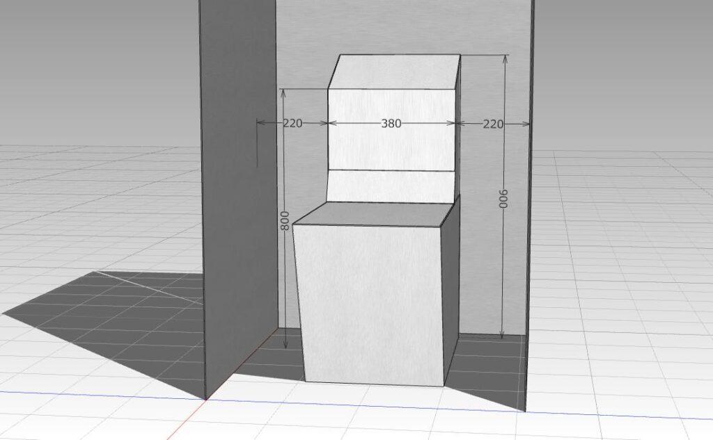 トイレの各寸法を測定